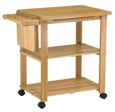 Amazoncom Winsome Wood Utility Cart Natural Kitchen Islands - Kitchen utility table