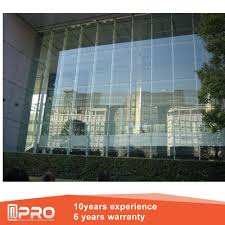 modern design aluminium glass curtain wall for commercial building