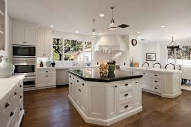 Kitchens With Dark Wood Cabinets Kitchen White Cabinets Black Granite What Color Backsplash How