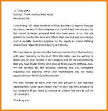 doc 580580 thank you for your business letter u2013 sample thank you