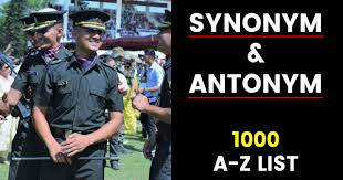 Antonym For Comfort 1000 A Z List Of Synonym And Antonym For Nda Cds Afcat