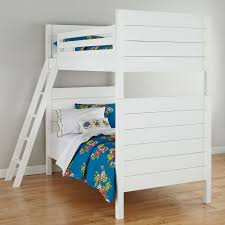 Crib Mattress Bunk Bed by Uptown White Twin Over Twin Bunk Bed The Land Of Nod