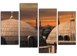 canvas room divider islamic canvas pictures of blue mosque istanbul for your living room
