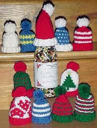free knitting patterns miniature hat ornaments for