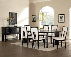 black dining room table set appealing white leather dining room set 89 in dining room chairs