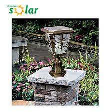 solar pillar lights outdoor high quality die casting aluminum post l outdoor gate solar