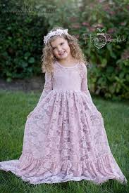 lace maxi dress dust pink u2013 hunny bee kids