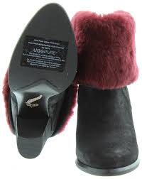 ugg s layna boots black ugg layna fur top boots in black