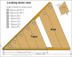 Picnic Table Plans Free Pdf by Best 25 Octagon Picnic Table Ideas On Pinterest Picnic Table