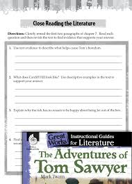 the adventures of tom sawyer close reading and text dependent