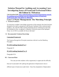 manual for auditing and accounting cases investigating issues of