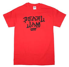 amazon com pearl jam u0027destroy u0027 red t shirt music fan t shirts