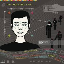 biometric face recognition vector art getty images