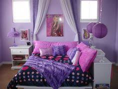 hannah montana bedroom tween room this is a chic purple tween room the bed is surrounded