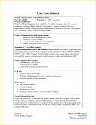 statement of work template for software project sample resume