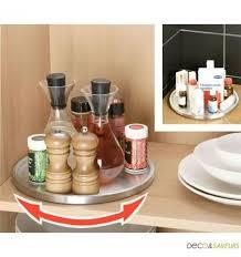plateau tournant cuisine plateau tournant range épices rangement cuisine inox