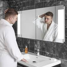 Bathroom Cabinet With Lights And Mirror by Lucent Two Door Led Bathroom Demister Cabinet 15007 Led Bathroom