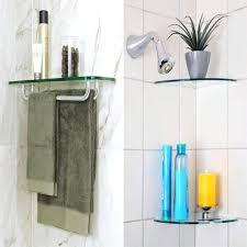 glass bath shelf with rail u2013 bathroom ideas