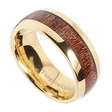 wood inlay wedding band 8mm unisex or men s tungsten wedding bands wood inlay and