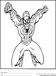 spiderman color sheets 48 spider man coloring pages images