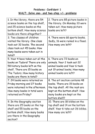 2 step addition and subtraction problems 4 levels by helensq