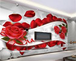 Rose Petals Room Decoration Beibehang 3d Wallpaper Bedroom Living Room Decorated Tv Background