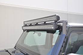 jeep light bar mount jk over windshield double light bar mount ko off road