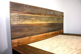 reclaimed wood platform bed salvaged wood headboard vintage