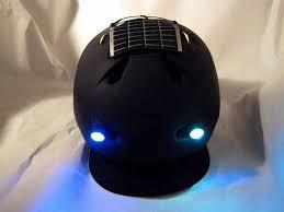 Motorcycle Helmet Lights Diy Bike Helmet Is Solar Powered Weatherproof