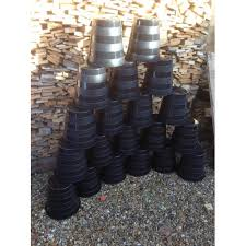 20 x 10 litre used plastic plant pots central hole