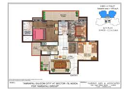 3 bhk apartment floor plan 3 bhk 1375 sq ft apartment for sale in amrapali crystal homes at