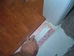 Hardwood Floor Transition Finishing Carpet To Laminate Transition