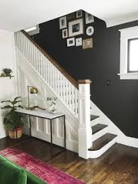 Dark Wood Banister Love The Dark Wood Floors Stairs And Railing With All The White
