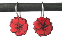 poppy earrings poppy earrings etsy