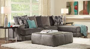 Living Room Sets Sectionals Foster Square Graphite 3 Pc Sectional Living Room Chic Modern