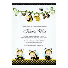 to bee baby shower personalized bumble bee baby invitations custominvitations4u