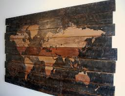 wood compass wall large world map and compass wall on distressed solid