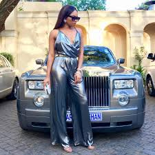 roll royce celebrity celebrity style inspiration bonang matheba 29 year old bombshell