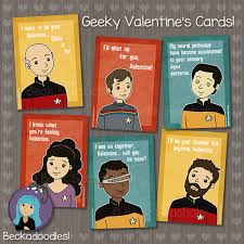 trek valentines day cards trek s day card by beckadoodles on etsy trek