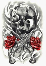 guns and roses2 me skulskulls studio