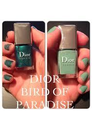 dior nail polish summer 2013 bird of paradise amilla frederikke