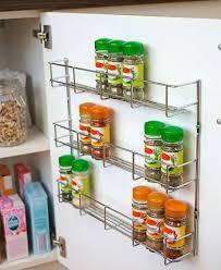 cabinet door mounted spice rack kitchen cabinet door storage accessories storage ideas