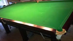 pool table pocket size full size square leg snooker table sold