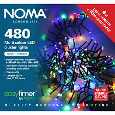 Led Cluster Lights Noma 480 Led Multi Colour Led Lights With Easy Timer Groves