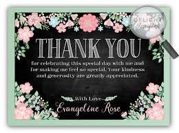 bridal shower thank you cards vintage chalkboard floral bridal shower thank you cards di 1540ty
