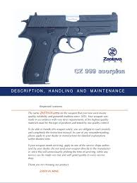 cz999 scorpion manual eng trigger firearms cartridge firearms