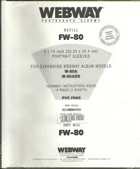 webway photo albums webway photograph albums refill fw 80 portrait sleeves 8x10 10