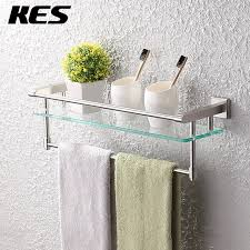 Glass Shelves For Bathroom Wall Kes A2225 2 Sus304 Stainless Steel Bathroom Glass Shelf Wall Mount