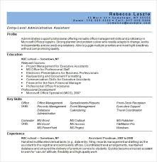 Entry Level Administrative Assistant Resume Sample by Resume Template For Administrative Assistant Administrative