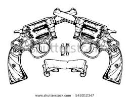 crossed pistols stock images royalty free images u0026 vectors